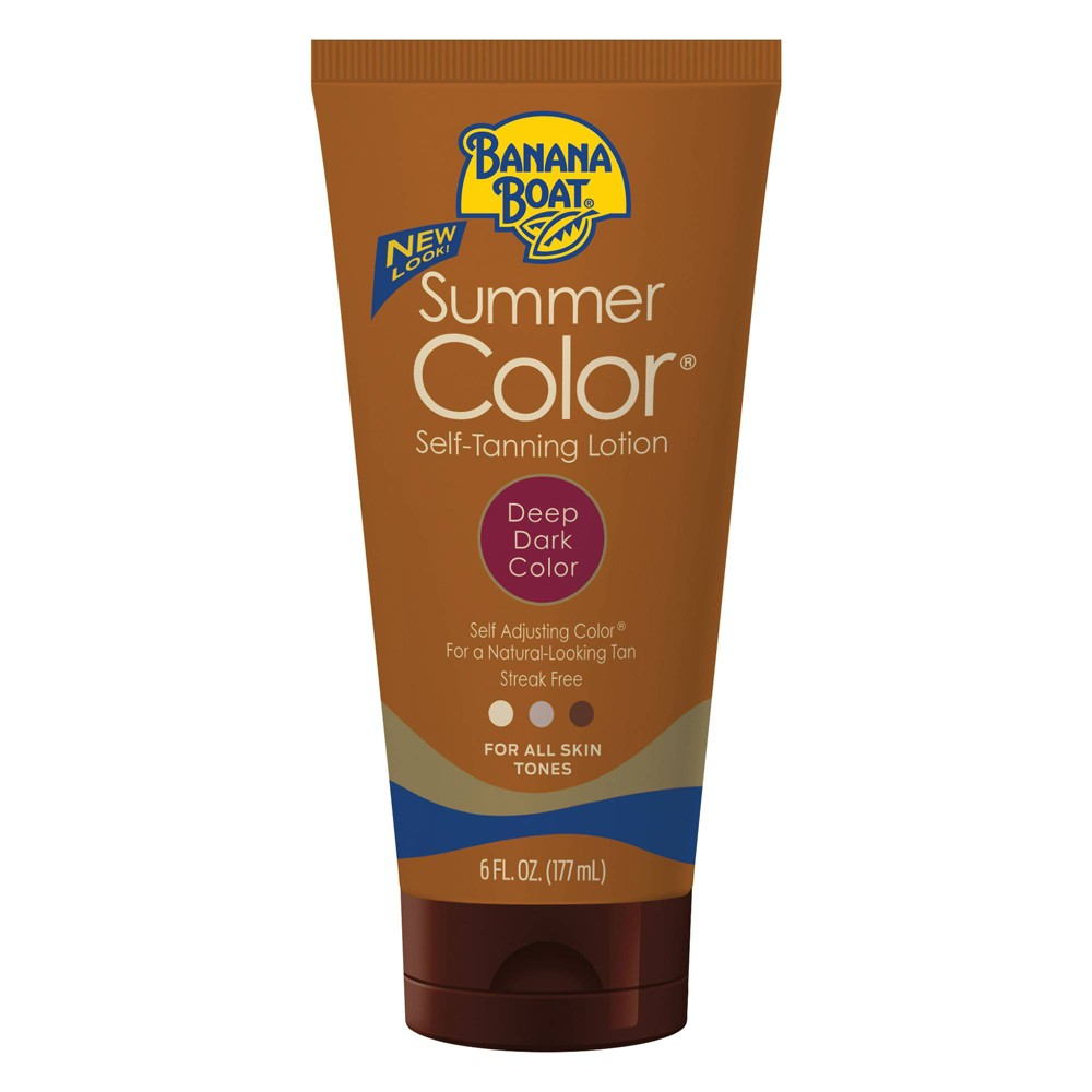 Image of Banana Boat Summer Color Self-Tanning Lotion - Deep/Dark - 6oz