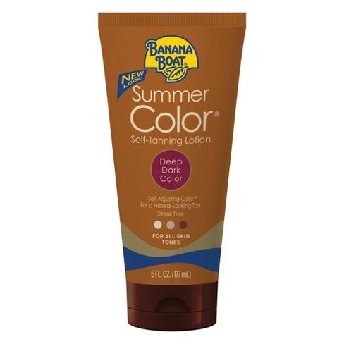 Banana Boat Summer Color Self-Tanning Lotion - Deep/Dark - 6oz - image 1 of 3