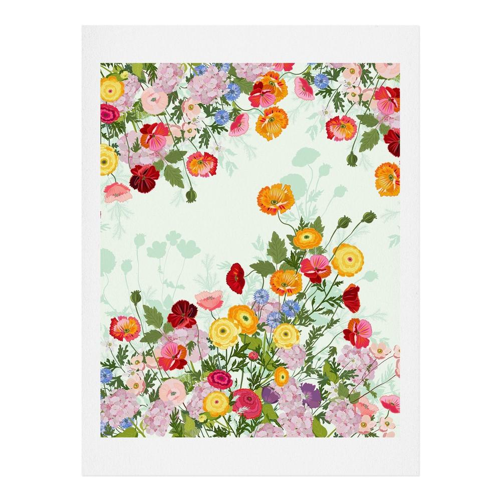 "Image of ""11""""x14"""" Iveta Abolina Emmaline Art Print Unframed Wall Poster Green - Deny Designs"""