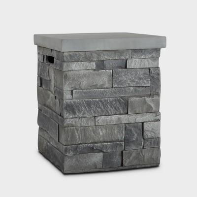 Ledgestone Tank Cover Gray - Real Flame