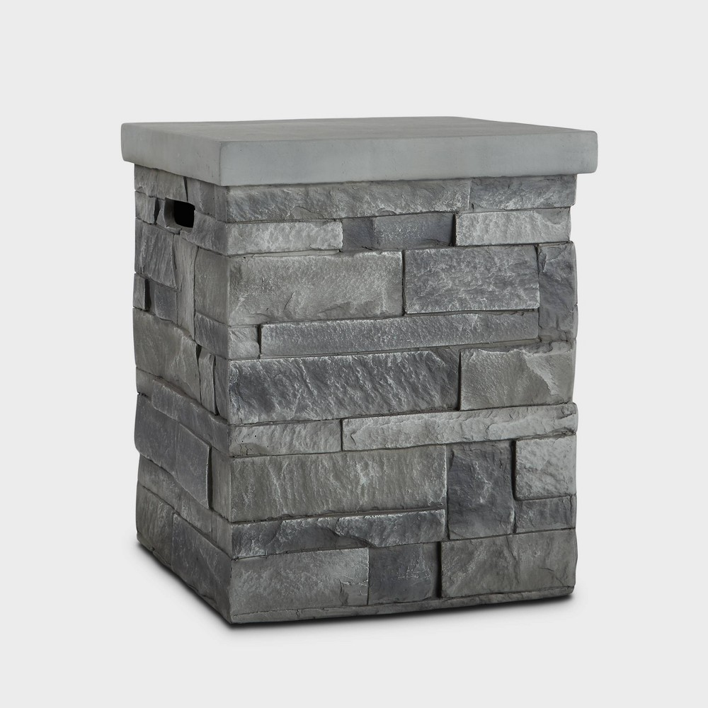 Image of Ledgestone Tank Cover Gray - Real Flame