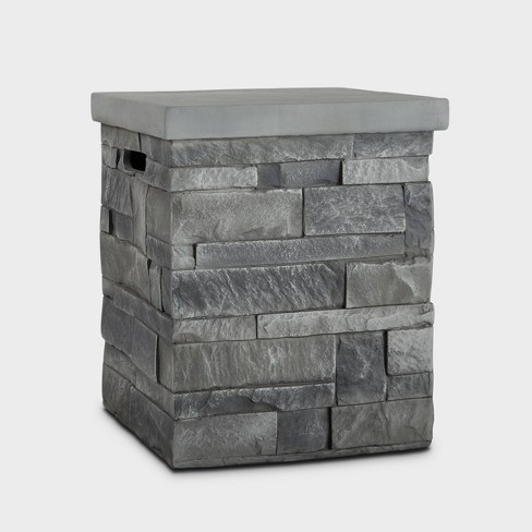 Ledgestone Tank Cover Gray - Real Flame - image 1 of 3