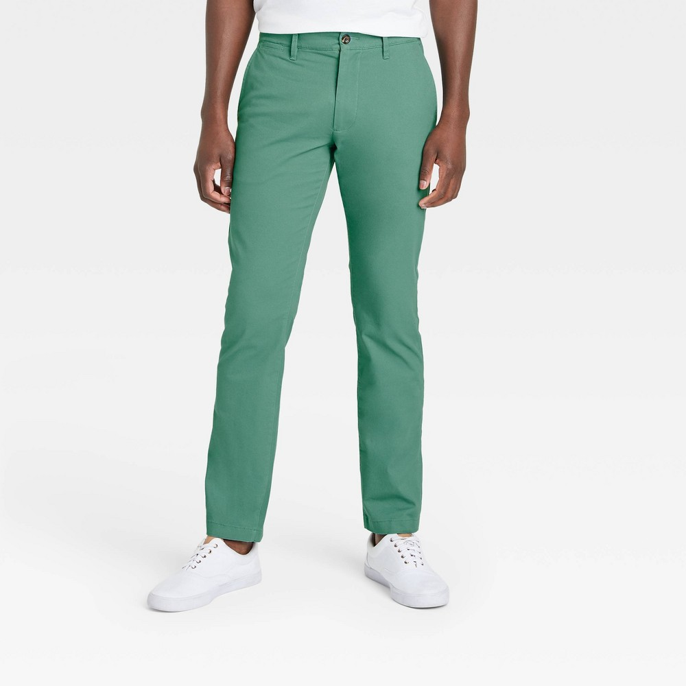 Men 39 S Slim Fit Hennepin Chino Pants Goodfellow 38 Co 8482 Dusky Green 29x30