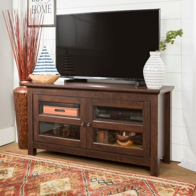 """2 Door Wood Storage Console TV Stand for TV's up to 50"""" - Saracina Home"""
