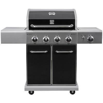 Kenmore 4-Burner Gas BBQ Propane Grill with Side Burner PG-40409S0LB Black