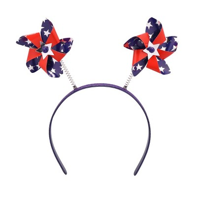 Parade Headband Mini Pinwheels Red White Blue - Sun Squad™