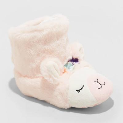 Toddler Doris Llama Bootie Slippers - Cat & Jack™ Blush Pink