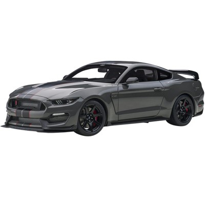 Ford Mustang Shelby GT-350R Lead Foot Gray with Black and Red Stripes 1/18 Model Car by Autoart