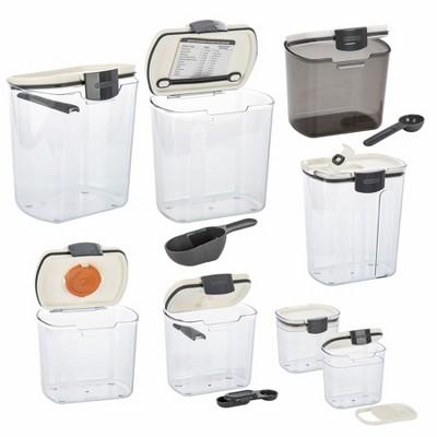 Progressive International 8 Piece Clear Dry Ingredient Storage Container Set