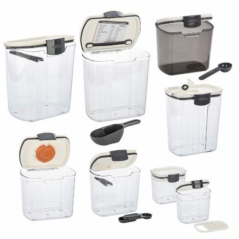 Progressive International 8 Piece Clear Dry Ingredient Storage Container Set - image 1 of 3