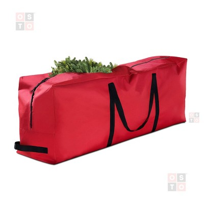 OSTO Premium Christmas Tree Storage Bag for Disassembled Trees up to 9 Feet, Tear Proof 600D Oxford 65 x 15 x 30