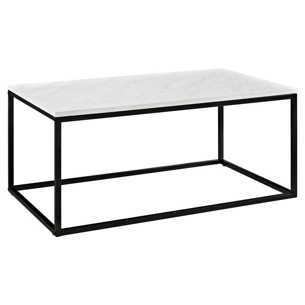 42 Open Box Coffee Table - Marble - Saracina Home
