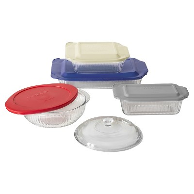 Pyrex Fluted Glass 9 pc Bakeware Set