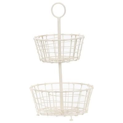 Metal Two Tier Decorative Storage Basket - Foreside Home & Garden
