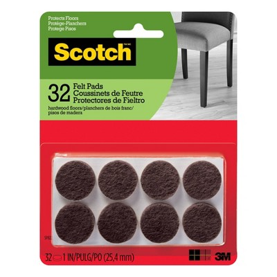 Scotch 1  32pk Felt Pads Brown