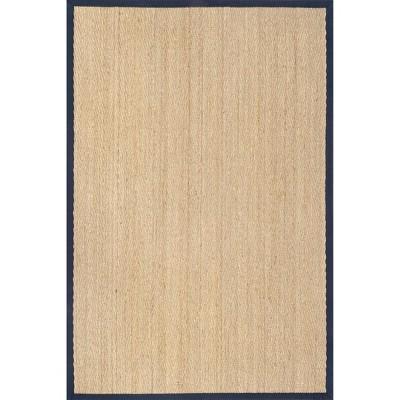 2 6 X6 Rectangle Loomed Herringbone Seagrass Area Rug Blue Nuloom Target