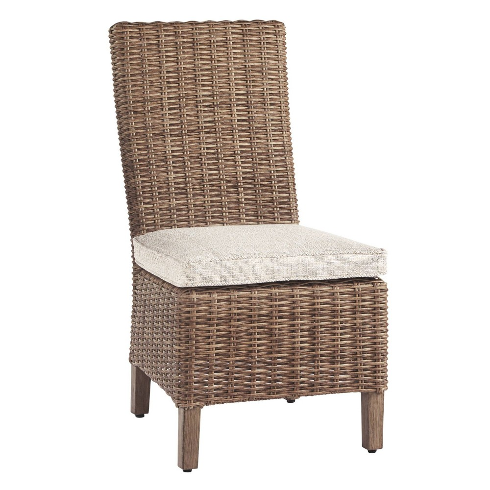 Image of Beachcroft Side Chair with Cushions - Beige - Outdoor by Ashley
