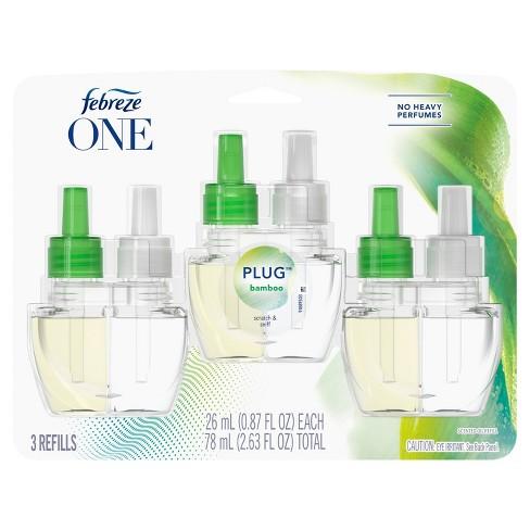 Febreze One Odor-Eliminating Plug Air Freshener Refill - Bamboo - 3ct - image 1 of 4