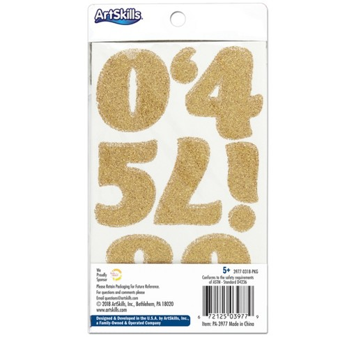 110pc gold letter stickers numbers artskills target