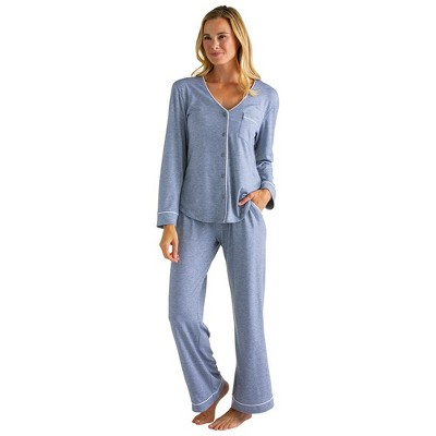 Softies Women's Ankle PJ Set with Contrast Piping