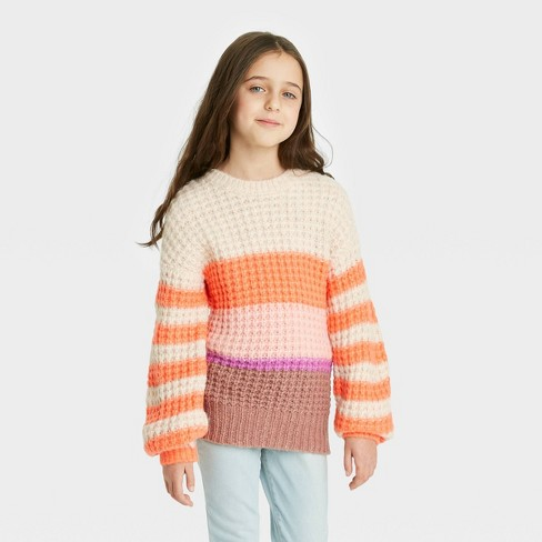 Girls' Colorblock Pullover Sweater - Cat & Jack™ - image 1 of 4