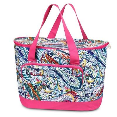 Zodaca Fashionable Large Cooler Bag, Multi-color Paisley