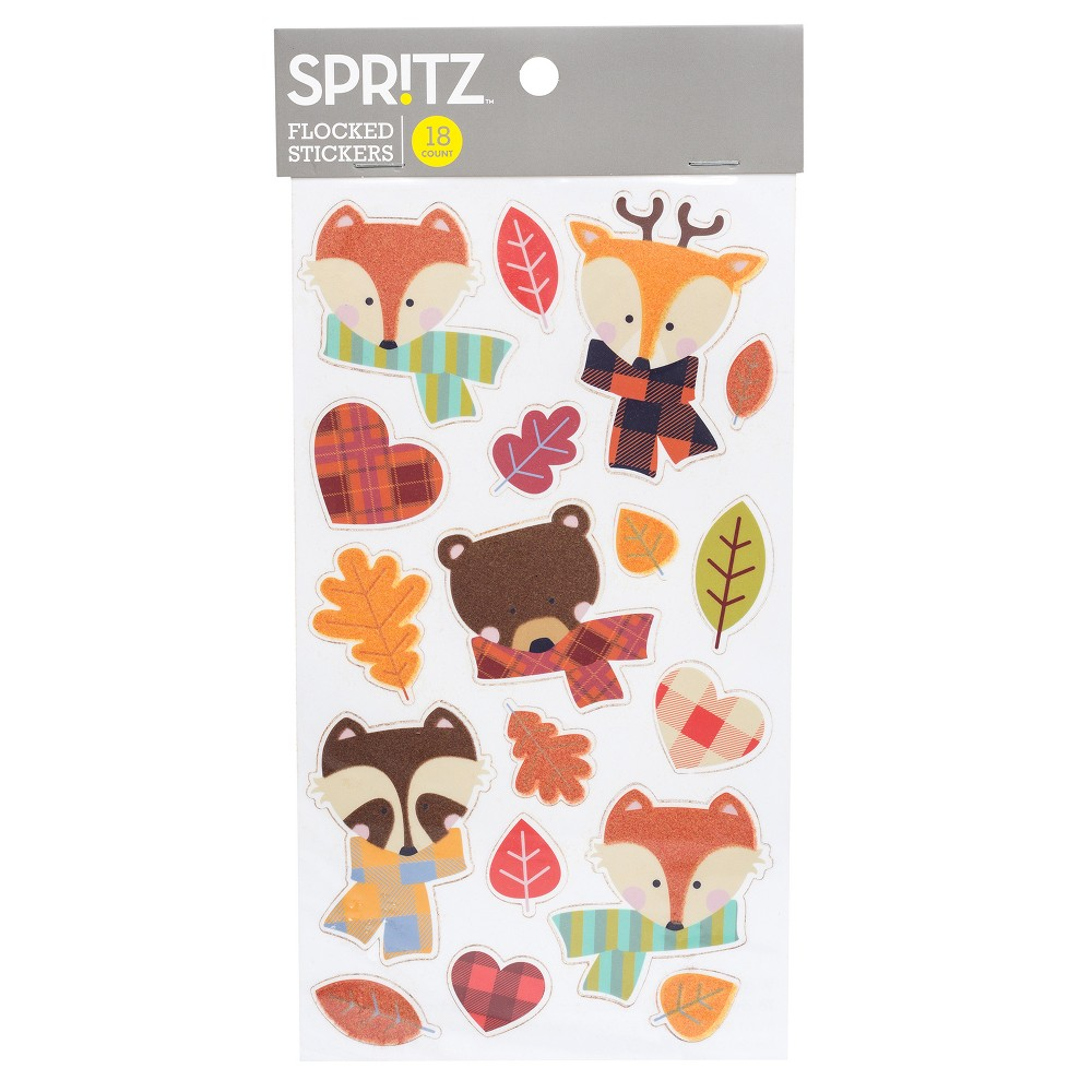 Pumpkin Embellishment 3 - Flocked Stickers - Spritz, Multi-Colored