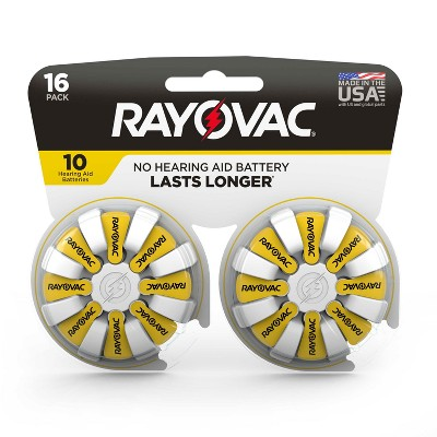 Rayovac Size 10 Hearing Aid Battery - 16pk