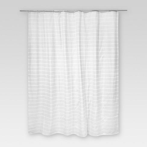 Light Stripe Shower Curtain Gray White Threshold Target