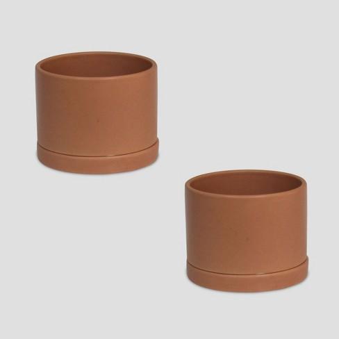 2pk Ceramic Planters Terracotta - Bullseye's Playground™ - image 1 of 1