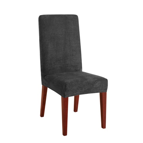 Stretch Chenille Short Dining Room Chair Slipcover