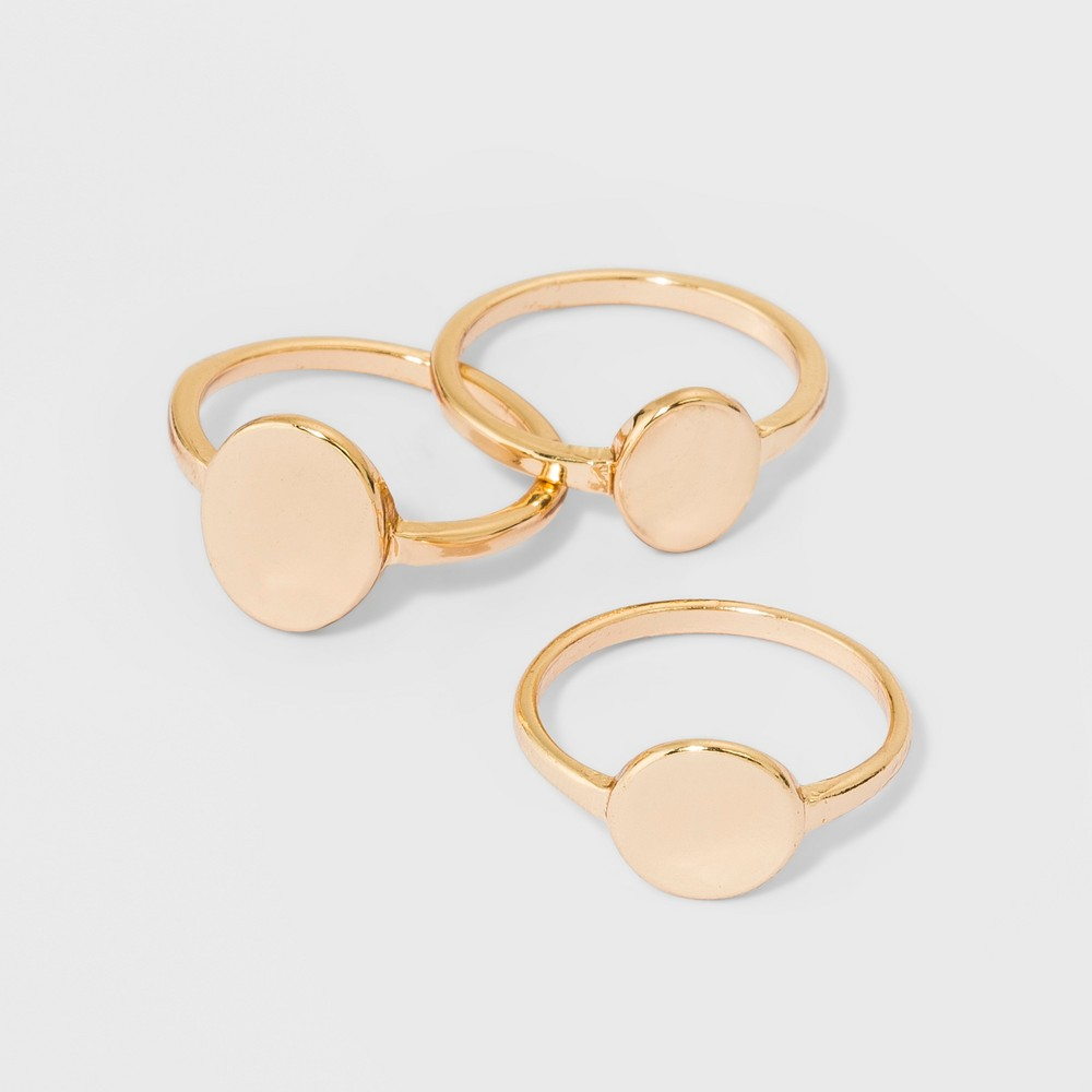 Stackable Signature Rings 3pc - A New Day Size 9 Gold