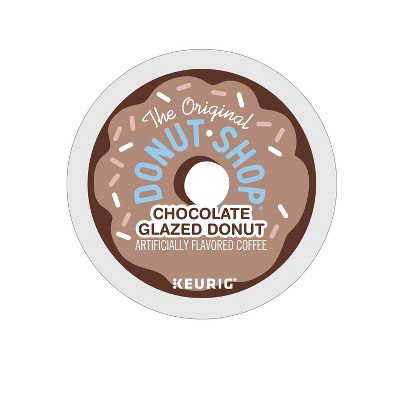 24ct The Original Donut Shop Chocolate Glazed Donut Keurig K-Cup Coffee Pods Flavored Coffee Medium Roast