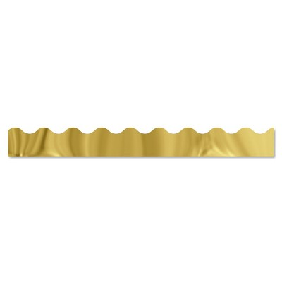 "Trend Terrific Trimmers Metallic Borders Gold 10 Strips 2 1/4"" x 39"" each T91252"