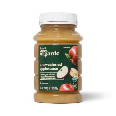 Organic Unsweetened Applesauce - 23oz - Good & Gather™ - image 1 of 2