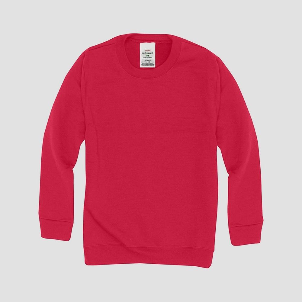 Hanes Kids 39 Comfort Blend Eco Smart Crew Neck Sweatshirt Red Xl