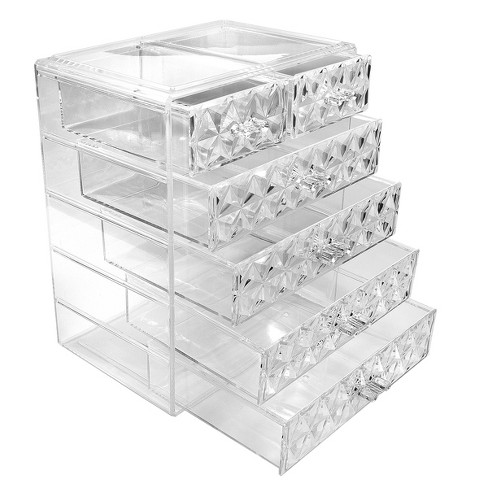 Sorbus Cosmetic Makeup and Jewelry Storage Case Display (4 Large/2 Small Drawers) - image 1 of 4