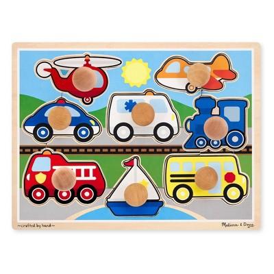 Melissa & Doug Vehicles Jumbo Knob Puzzle- 8pc