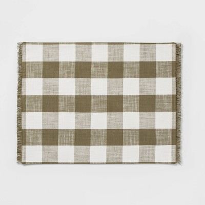 Checkeded Placemat Green - Threshold™