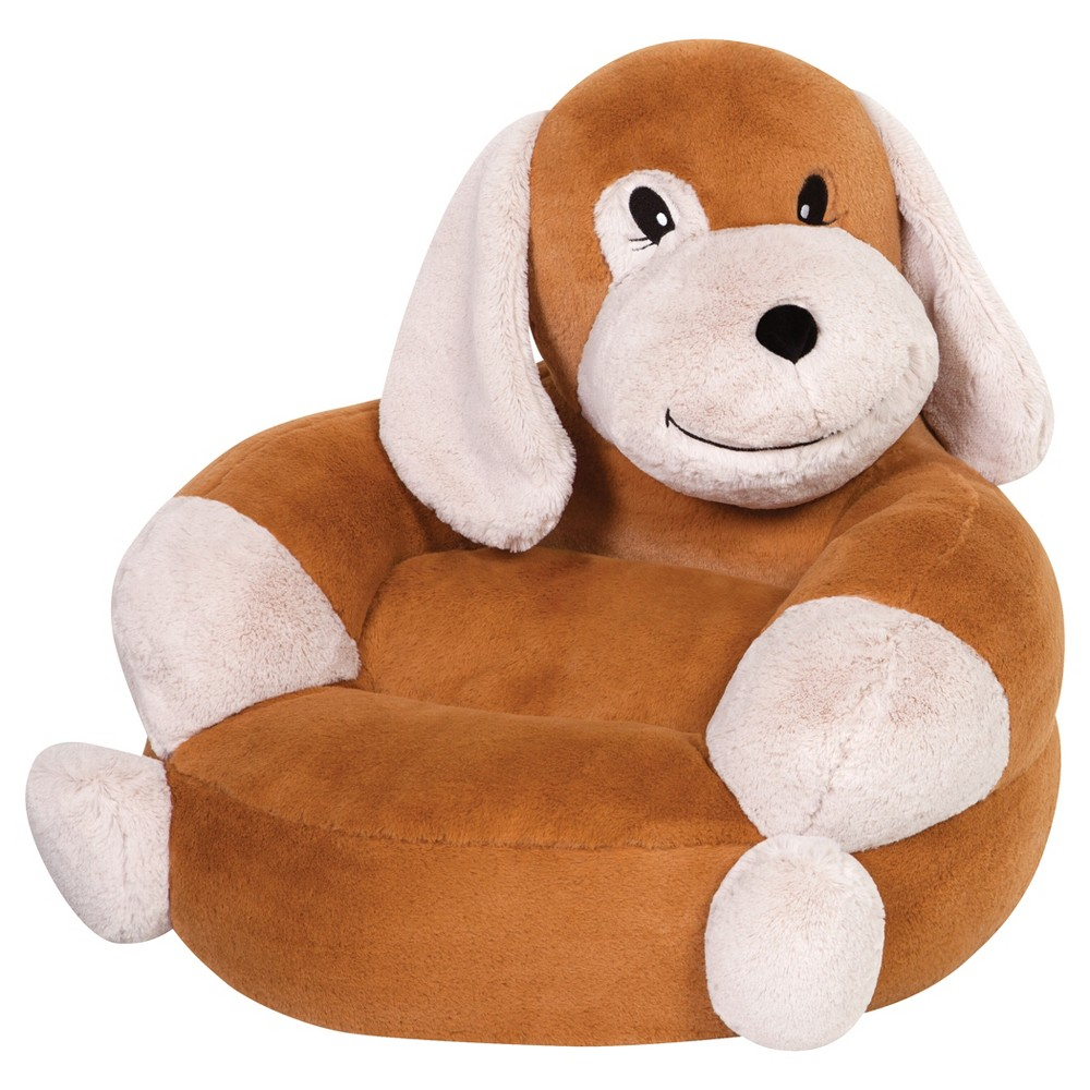 Children's Plush Puppy Character Chair Brown - Trend Lab, Light Brown