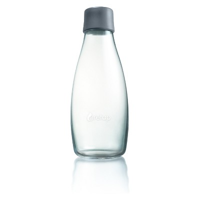 Retap Glass Water Bottle 17oz - Gray