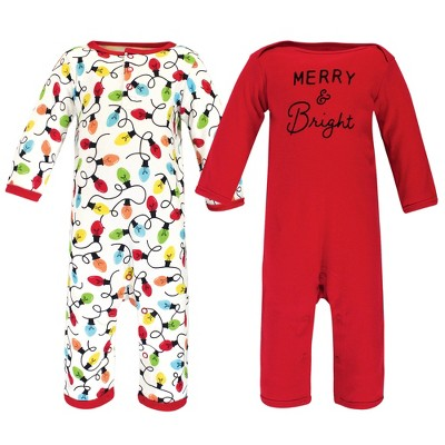 Touched by Nature Baby Unisex Holiday Pajamas, Baby Merry and Bright