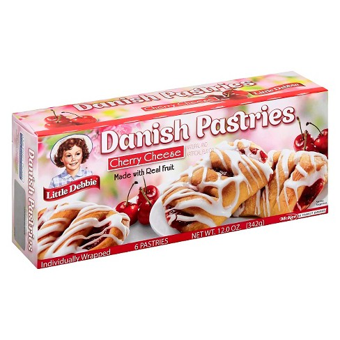 Little Debbie Cherry Cheese Danish Pastries 6ct - image 1 of 1
