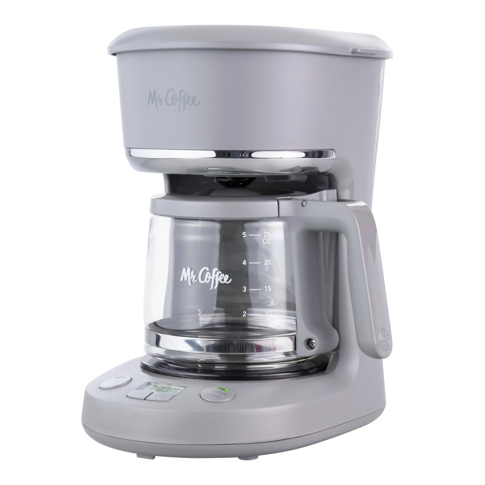 Mr Coffee 5 Cup Programmable Coffee Maker Pewter
