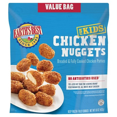 Earth's Best Kidz All Natural Baked Frozen Chicken Nuggets - 16oz