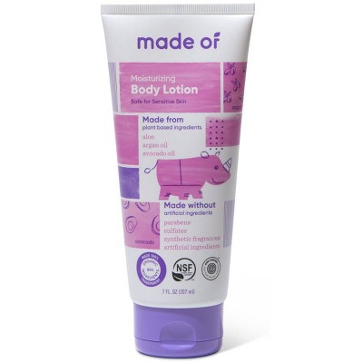 MADE OF Organic Baby Body Lotion Fragrance Free- 7oz