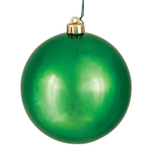 "Vickerman 3"" Green Shiny Ball Ornament UV Coated Drilled Cap - image 1 of 1"