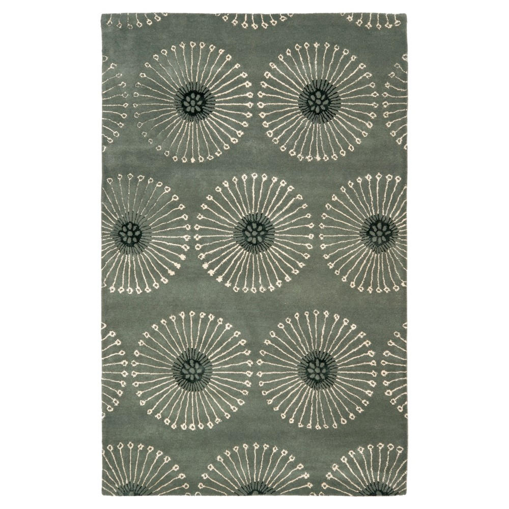 Best GrayIvory Botanical Tufted Area Rug 76x96 Safavieh
