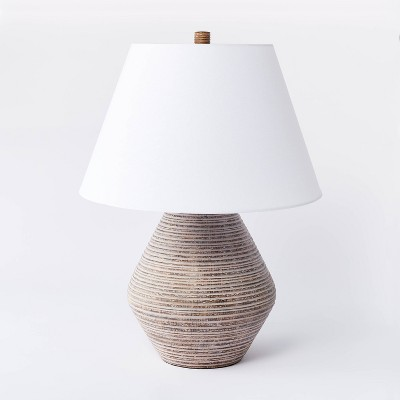Assembled Resin Table Lamp (Includes LED Light Bulb)Tan - Threshold™ designed with Studio McGee
