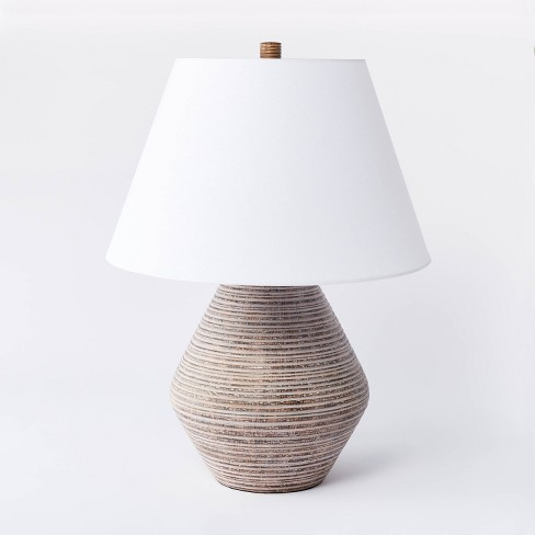 Assembled Resin Table Lamp Tan - Threshold™ designed with Studio McGee - image 1 of 4